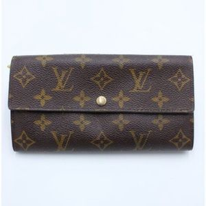 Louis Vuitton Sarah monogram large wallet